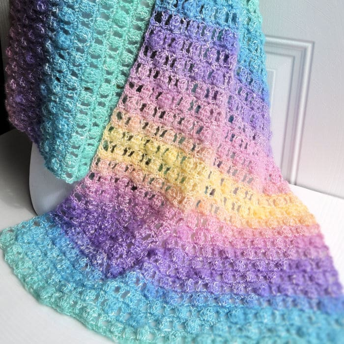 Unicorns in the Mist Shawl Free Crochet Pattern